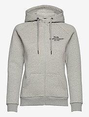 Peak Performance - W Original Zip Hood - hupparit - med grey melange - 0