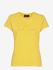 Peak Performance - W Original Tee - t-paidat - citrine - 0