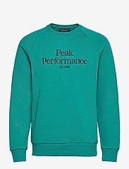 Peak Performance - M Original Crew - sweaters - ceres green - 0