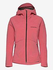 Peak Performance - W Adventure Hood Jacket - ulkoilu- & sadetakit - alpine flower - 0