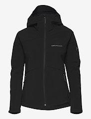 Peak Performance - W Adventure Hood Jacket - ulkoilu- & sadetakit - black - 0