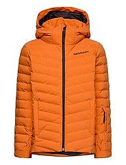 Jr Frost Ski Jacket Cold Blush - ORANGE ALTITUDE