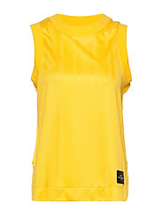 W Tech Cropped Tank - STOWAWAY YELLOW