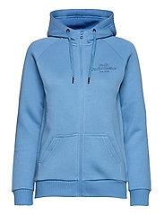 W Original Zip Hood Med Grey Mel - BLUE ELEVATION