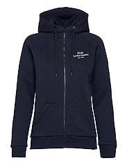 W Original Zip Hood Med Grey Mel - BLUE SHADOW