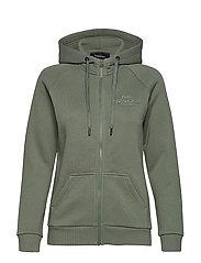 W Original Zip Hood Med Grey Mel - FELLS VIEW