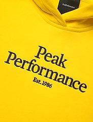 Peak Performance - JR Original Hood - kapuzenpullover - stowaway yellow - 2