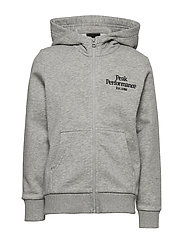 JR Original Zip Hood - MED GREY MEL