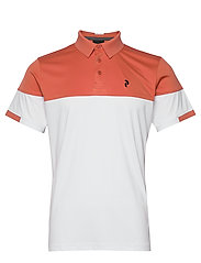Player Block Polo Men - CLAY RED