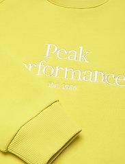 Peak Performance - W Original Crew - svetarit - citrine - 2