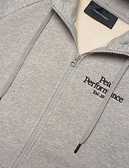Peak Performance - W Original Zip Hood - hupparit - med grey melange - 2