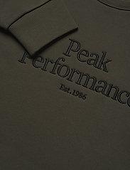 Peak Performance - M Original Crew - yläosat - black olive - 2