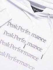 Peak Performance - W Ground Hood Dress - vapaa-ajan mekot - white - 2