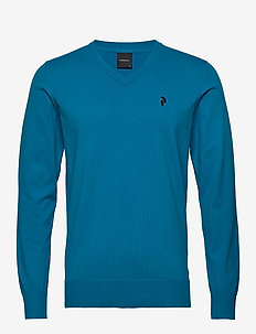M Classic V-Neck - basic knitwear - north atlantic