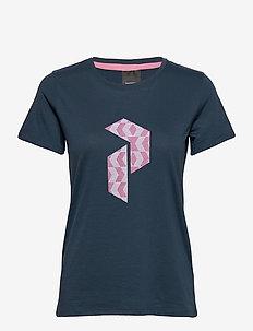 W Explore Tee P Logo Pri Blue Steel - t-shirts - blue steel
