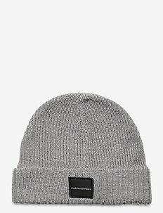 Volcan Hat Black - mössor - med grey mel