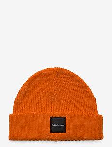 Volcan Hat Black - mössor - orange altitude