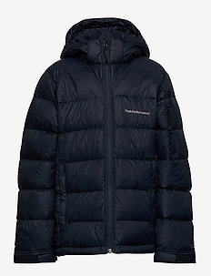 Jr Frost Down Jacket Black - puffer & padded - blue shadow