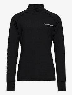 Junior Spirit Crew Black - langermede t-skjorter - black
