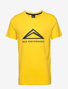 M Tech Tee - topy sportowe - stowaway yellow