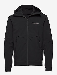 M Adventure Hood Jacket - softshell jackets - black