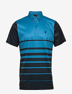 M Bandon Print Polo - paidat - north atlantic