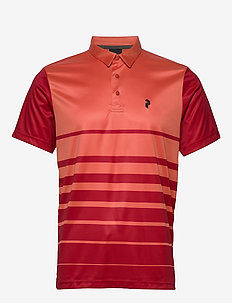 Bandon Print Polo Men - paidat - clay red