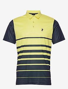 Bandon Print Polo Men - koszulki polo - sunny yellow