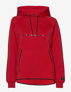 W Tech Hoodie - huvtröjor - vibrant red