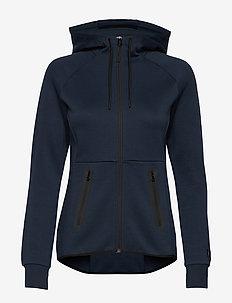 W Tech Zip Hood - bluzy z kapturem - blue shadow