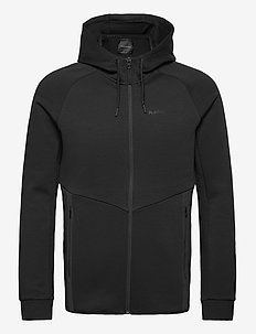 M Tech Zip Hood Fells View - basic sweatshirts - black