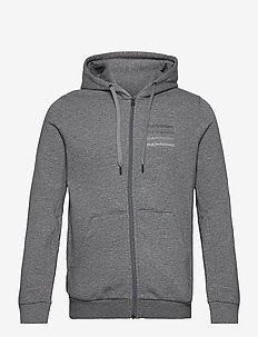 M Ground Zip Hood White - sweats basiques - grey melange