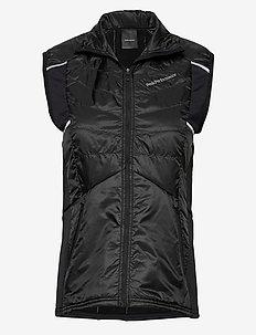 W Alum Vest Black - gevoerde vesten - black
