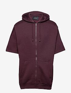 W Bounce Zip Hood - hoodies - mahogany