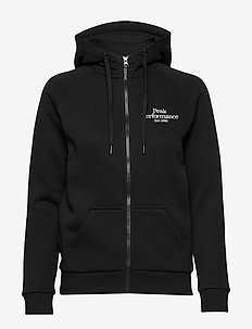W Original Zip Hood - hupparit - black