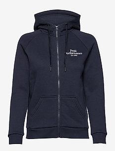 W Original Zip Hood - bluzy z kapturem - blue shadow