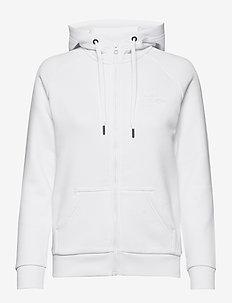 W Original Zip Hood - huvtröjor - white