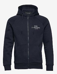 M Original Zip Hood - basic sweatshirts - blue shadow
