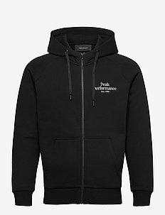 M Original Zip Hood The Alpine - basic sweatshirts - black