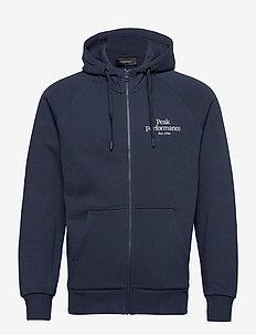 M Original Zip Hood The Alpine - basic sweatshirts - blue shadow