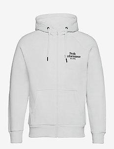 M Original Zip Hood The Alpine - basic sweatshirts - white