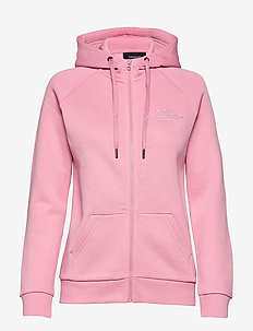 W Original Zip Hood Med Grey Mel - bluzy z kapturem - frosty rose