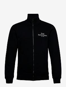 M Original Zip Jacket Med Grey Mel - basic-sweatshirts - black
