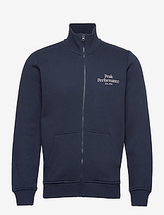 M Original Zip Jacket Med Grey Mel - sweats - blue shadow