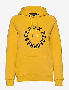S W LOGO HOOD DESERT YELLOW - huvtröjor - desert yellow