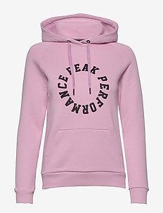 S W LOGO HOOD DESERT YELLOW - hoodies - summer pink