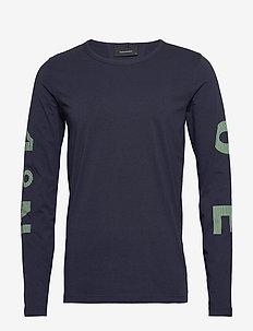 M Karta LS Tee - bluzki z długim rękawem - blue shadow