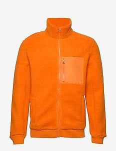 M ORIPI ZJ - mittlere lage aus fleece - orange