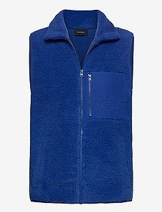 M Original Pile Zip Vest Artic Blue - sports jackets - artic blue