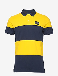M Original Block Pique - koszulki polo - stowaway yellow